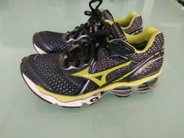 Mizuno Wave Creation 12 Womens Running Shoes Black/Neon Sz 6 - $49.50