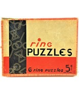 Puzzle Ring Made In Japan Original Box Collectible 6 Total Puzzles Vintage - $9.89