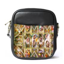 Sling Bag Leather Shoulder Bag Michelangelo di Lodovico Buonarroti Simoni Italia - $14.00