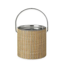 Kraftware Woven Straw Ice Bucket with Metal Bar Lid - $44.99