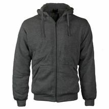 Men's  Soft Sherpa Lined Fleece Zip Up Hoodie Sweater Jacket w/ Defect 5XL