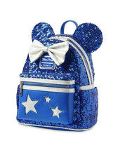 Disney Parks Loungefly Minnie Make A Wish Backpack Bag Blue Wishes Come ... - $93.49
