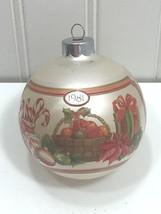 Vintage Hallmark Ornament GRANDPARENTS 1981 Glass Christmas Ball 24325 - $9.62