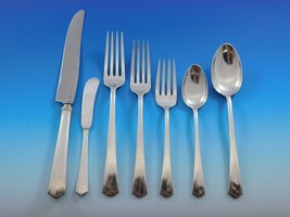 Modern American by Lunt Sterling Silver Flatware Set for 12 Service 88 pc Dinner - $5,250.00