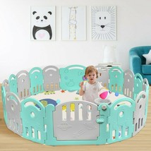 18-Panel Baby Playpen with Music Box & Basketball Hoop - new (cy) - $178.99