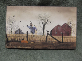 After The Harvest Scarecrow Fall Pumpkins Canvas Billy Jacobs Barn Farm ... - $12.06 CAD