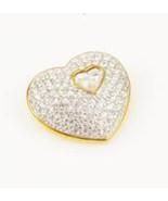 Swarovski Crystal Heart within Heart Brooch - $105.00