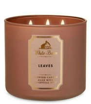 Bath & Body Works LEAVES 3 Wick Scented Candle 14.5 oz - $26.17