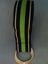 Ralph Lauren Mujer Nuevo Azul Marino/Blanco/Verde Grosgrain Cinturón Tal... - $40.68