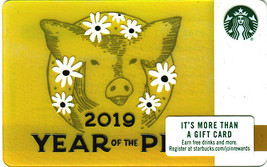 Starbucks 2019 Year Of The Pig Collectible Gift Card New No Value - $2.99