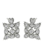 10 K White Gold 1/4 CT Natural Diamond Earring Fashion Star Stud for women  - $416.71