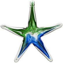 Kitras 6-Inch Starfish Glass Ornament, Blue/Green - $37.85