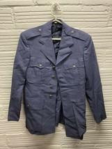 Mens Vintage 50s USAF Air Force Korea War Blue Full Suit Jacket Pants 36R 32/31 - $66.49