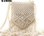 Traw weave bag handmade pompon tassel crochet knitting famous brand crossbody bags thumb155 crop