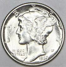 1937 Mercury Dime; Gem BU; Nice White - $35.63