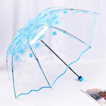 Women Transparent Umbrella ladies Rain Plastic japan Clear Lace Parasol ... - $24.12
