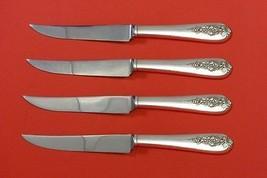 "Pendant-Of-Fruit by Lunt Sterling Silver Steak Knife Set 4pc HHWS  Custom 8 1/2"" - $247.10"