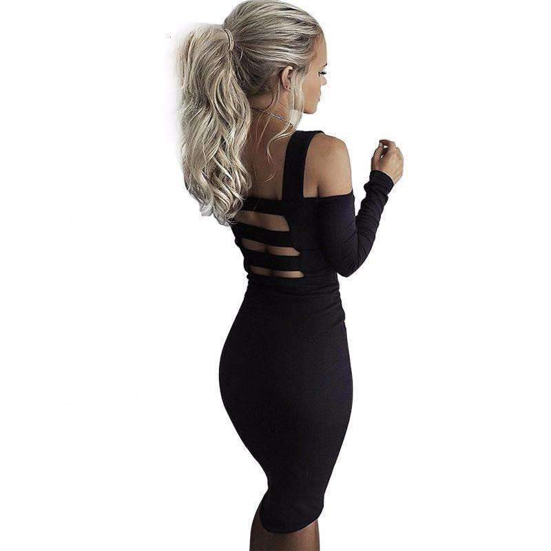 Daisy dress for less cut out back long sleeve women party bodycon dress 1389801734175