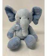 Russ Berrie Plush Tender Rattles Elephant Blue Soft Stuffed Animal Lovey... - $17.33