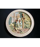 TALE OF PETER RABBIT 3-D collector plate WORLD OF BEATRIX POTTER - $59.00