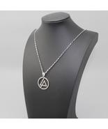 """925 Sterling Silver Linkin Park Bank Symbol Pendant Necklace 24"""" Box Sty... - $19.99"""