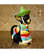 Chihuahua Dog Teapot Collectible Decorative Home Décor Blue Sky Clayworks - $56.99