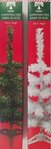 "Mini-Christmas Trees Table Top w Stands 18"" 2 Trees/Pk, Select Green or White - $4.99"