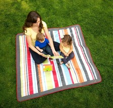 JJ Cole Outdoor Blanket, 5' x 5', Gray/Red - $23.68