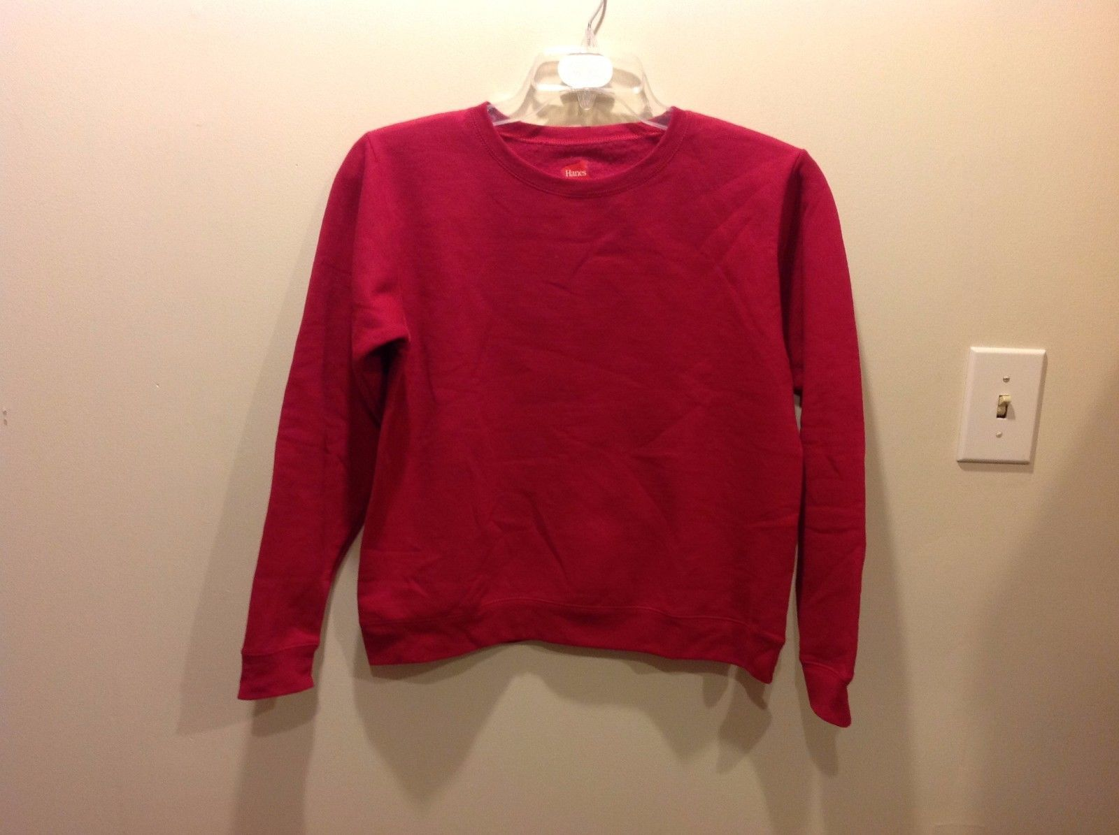 Deep Pink Simple Cozy Sweater by HANES Comfortblend XL