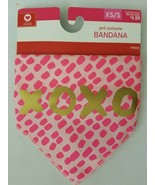 Target Pet Costume Bandana Valentines XOXO Pink Size XS/S up to 20lbs - $4.94