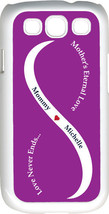 Purple & White Mother's Love with Navy Blue Names Samsung Galaxy S3 Case Cover - $15.95