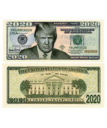 Pack of 100 - Donald Trump 2020 Re-Election Presidential Dollar Bill Ser... - $14.95