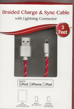 Digital Treasures Lightning to USB Charge & Sync Cable for Apple iPhone ... - $14.95
