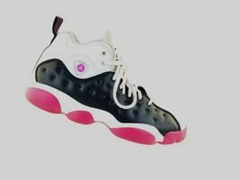 Nike Air Jordan Jumpman Team II Kid's Black White Pink Shoes Size 9Y 820... - $27.17