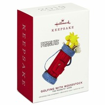 Hallmark Keepsake 2019 Peanuts Golfing with Woodstock Limited Ornament N... - $32.66