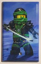 Ninjago Green Lloyd Ninja Light Switch Outlet Wall Cover Plate Home Decor image 3