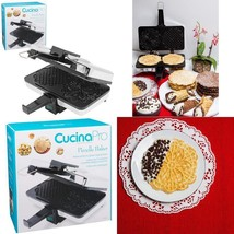 Nonstick Pizzelle Baker Waffle Cookie Maker Dessert Cone Cannoli Shells ... - ₨3,945.81 INR