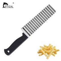 FHEAL® Stainless Steel Wave Potato Cutter French Fry Cutter Potato Chip ... - $4.86