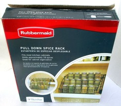Rubbermaid New In Box #8020 Pull Down Spice Rack Black Copyright 2009 Mi... - £21.21 GBP