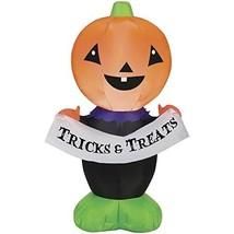 Pumpkin Hollow LED Airblown Jack 3 1/2' Tall! Tricks & Treats - €36,25 EUR