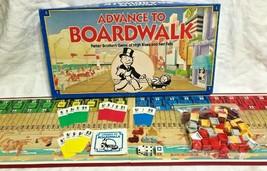 Advance to Boardwalk Board Game Parker Brothers 1985 Vintage Complete - $9.89