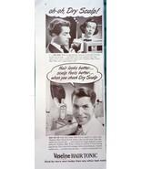 Vaseline Hair Tonic Oh Oh Dry Scalp Magazine Print Article  Advertisemen... - $8.99
