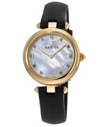 Gucci YA141404 mother of pearl Dial Leather Strap Ladies Watch - $974.99