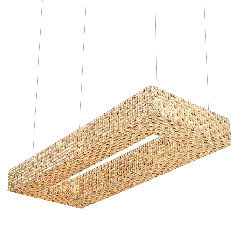 "Primary image for AM8880: ""Cornice Rectangular"" Chandelier (26""-60"" W) $1,865+"