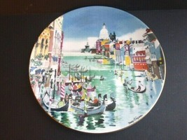 Royal Doulton - Grand Canal, Venice - Dong Kingman Collector Plate 1977  - $14.84