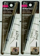 2 Maybelline New York Brow Precise Micro Pencil & Grooming Brush #255 SOFT BROWN - $13.27