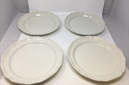 Lot Of 4 Mikasa French Countryside Dinner Plates F9000 All White - $46.74