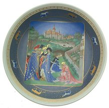 Bradford Exchange Limoges Avril from The Very Rich Hours of Jean Duc de ... - $82.81