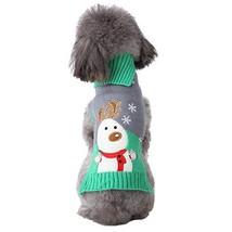 NACOCO Dog Elk Sweater Pet Snow Design Costume Green Gray Turtleneck for... - $16.49