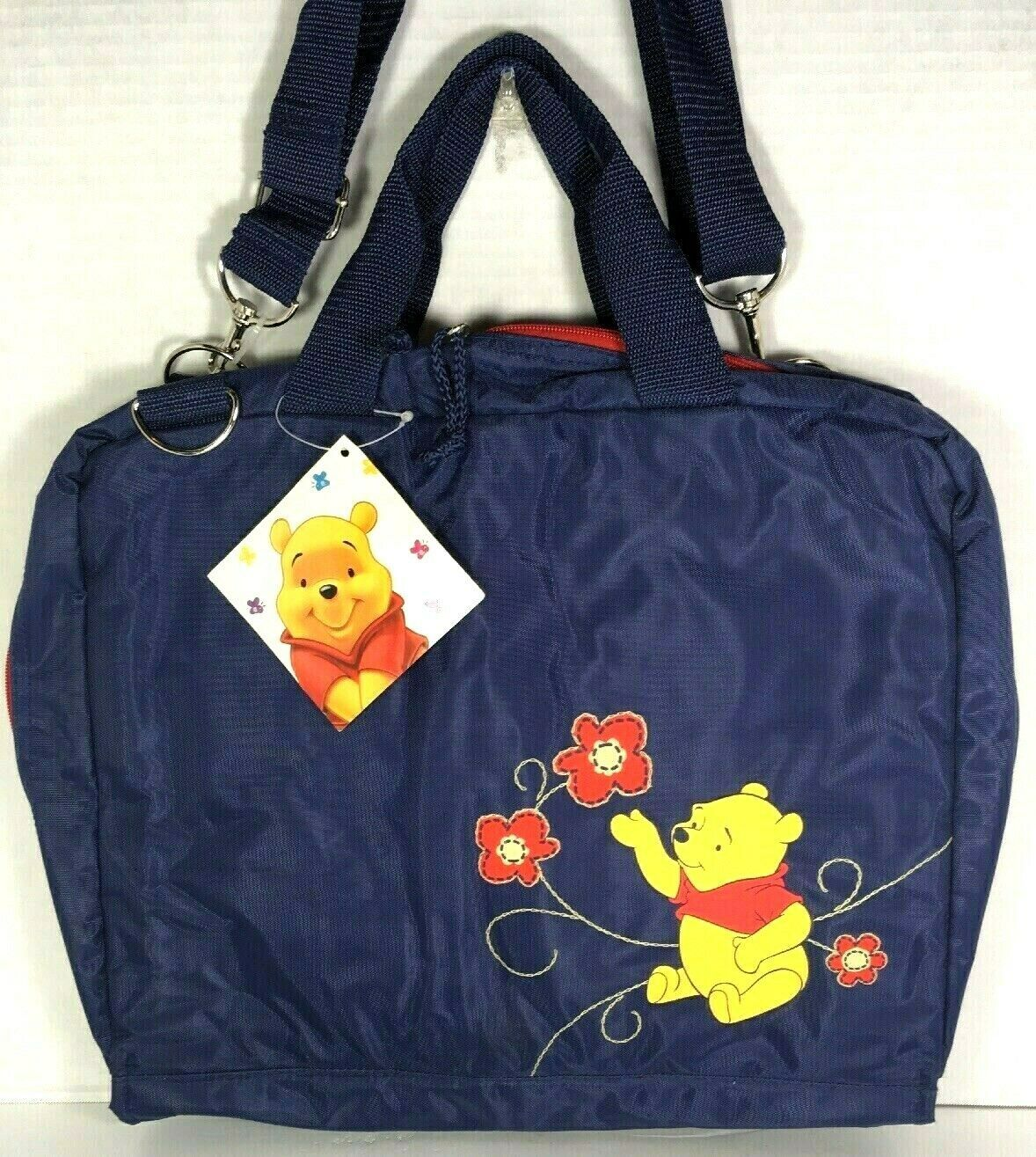 Winnie the Pooh Large Blue Nylon Travel Bag